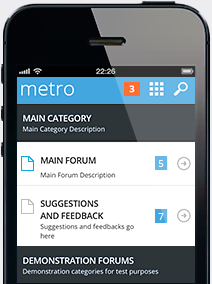 Metro Mobile for vBulletin 4 2
